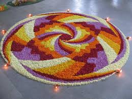 Wallpapers Backgrounds - Flower Rangoli Designs Floral Decoration Patterns Diwali Wallpapers