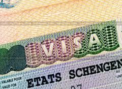 изображение шенген визы в паспорте
