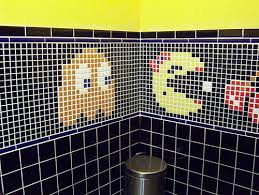 Bathroom Retro Tile Pictures mint and black bathroom tile