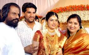 K.J Yesudas son's engagement photos