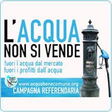 Campagna referendum acqua pubblica