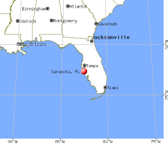 Sarasota, Florida map