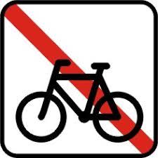Henstillen af cykler forbudt.