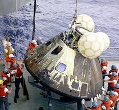 The recovery of the Apollo 13