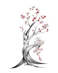 cherry tree drawing