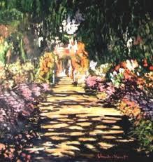 Claude Monet: Il Viale del Gardino