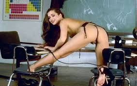 Natasha gets drilled on her teachers desk