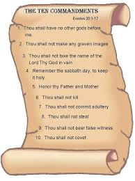 the Ten Commandments in