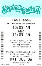 Fastpass information