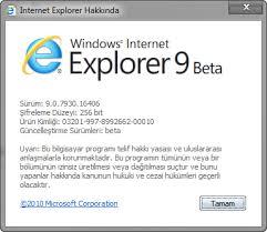 Internet Explorer 9.0 Beta Hkknda