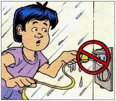 الاخطار الكهربائية وكيفية التخلص منها بالسلامة Cartoon2