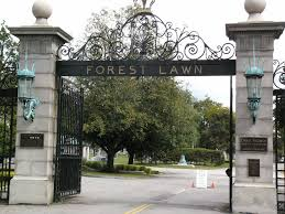 the Forest Lawn Cemetery