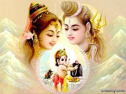 Wallpapers Backgrounds - Shiv Parvati Ganesh