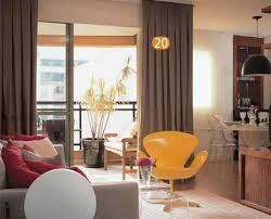 decoração de apartamentos pequenos com cortinas