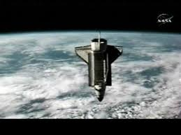 In this view from NASA TV