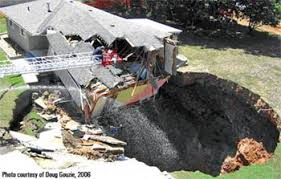 Picture of a sinkhole