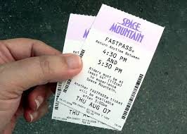 The fastpass normally gives