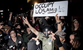 Occupy LA protesters, who were