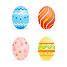 Easter sample eggs Vector