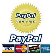 We Accept Most Major Credit Cards via our Pay Pal Payment Plan.