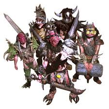 The metal band GWAR performs