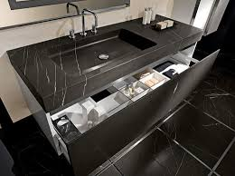 Modern Bathroom set - marble colorado Vanity Black