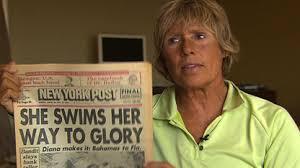 Marathon swimmer Diana Nyad