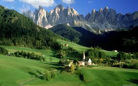 طبیعت زیبای کوهستان در اروپا