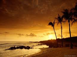 عکس غروب زیبا در ساحل دریا