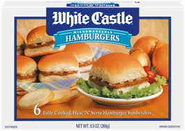 White Castles menu for a