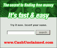 unclaimed money, funds