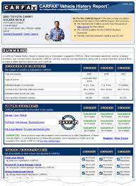 View Sample Carfax Report