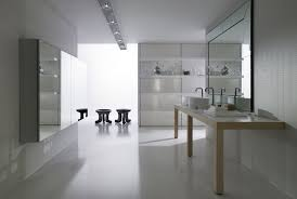 White Bathroom Furniture With Fluorescent Light Fixtures