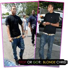 Here is Chris Brown shopping