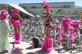 pink pictures, Burning Man