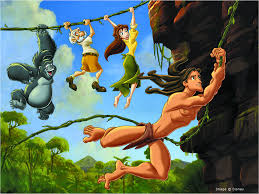 Free Tarzan hanging with