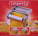 150 Imperia Pasta Maker, Chromium-Plated Steel Pasta Machine