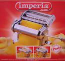 150 Imperia Pasta Maker, Chromium-Plated Steel Pasta Machine
