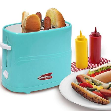 Elite - Hot Dog Toaster - Light Blue