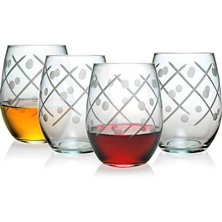 Twist Collection Stemless Wine Glasses