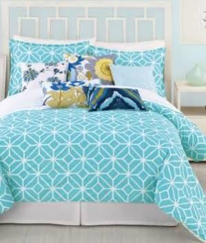 Trina Turk Trellis Turquoise Twin Comforter