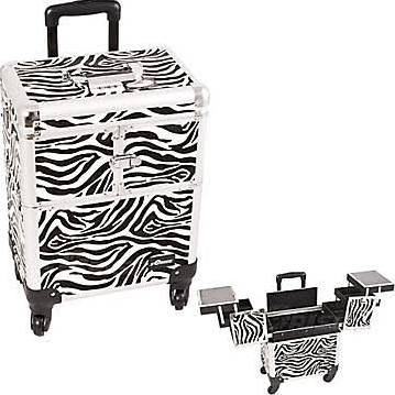 Zebra 4 Wheels Makeup Case Organizer