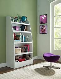 Kids 4-Shelf Bookcase in White