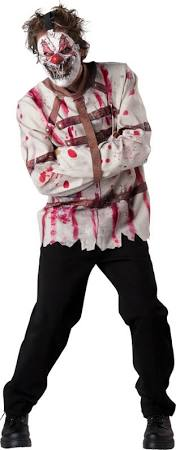 Circus Psycho Scary Clown Costume Adult