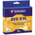 Verbatim 8.5GB 2X-4X DVD-R DL 3 Packs Jewel Case Disc