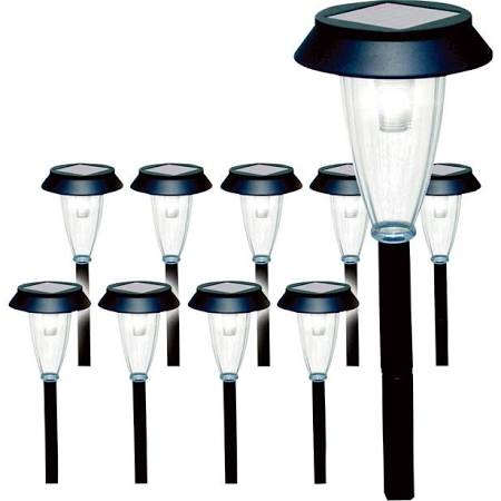 Nature Power Solar Garden Lights - 10-Pack