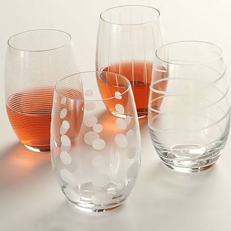 Mikasa Cheers Stemless Wine Glass - Set