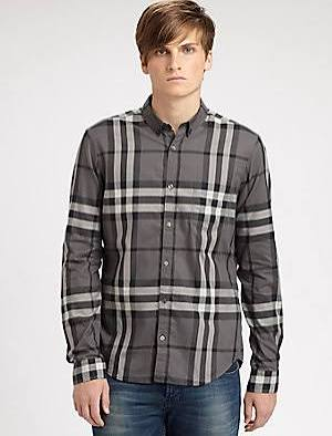 Burberry Brit Woven Check Shirt - Charcoal