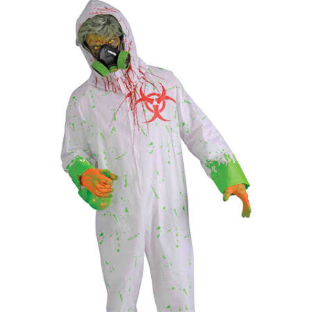 Scary Biohazard Mutant Zombie Hazmat Suit