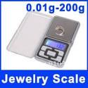 Balanza electrónica de bolsillo portátil pesa 200g medida de peso